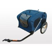 Quality PU coating waterproof 600D polyester fabric Bicycle Pet / Dog trailer for sale