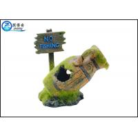 Quality Ordinary Mossy Ancient Jar Fish Tank Ornaments For Aquarium Fish Guidepost for sale