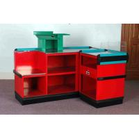 China Steel Plastic Material Supermarket Cashier Counter , Retail Check Out Counters on sale