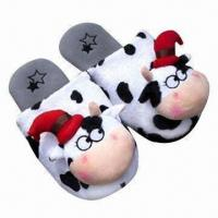 Quality Women's Slippers with Polar Fleece Upper/Lining and Dotted Textile Outsole for sale