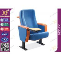 Quality Beech Plywood Auditorium Theater Seating / Lecture Hall Chairs With Writing Tablet for sale