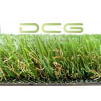 Quality Dark Green Natural Looking Artificial Grass S Shape 11000 Dtex UV Resistant for sale