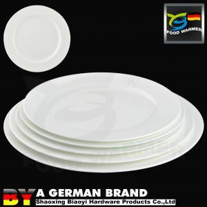 China Ivory Decorative Porcelain Plates Luxurious 8 Medium Size Commercial Grade on sale
