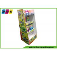 Quality Retail Stores Cardboard Floor Displays Offset Printing With 4 Shelves FL176 for sale