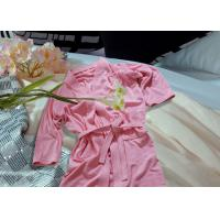 Quality Embroidered Pattern Luxury Bath Robes For Hotel / Home Jacquard Cotton Fabric for sale
