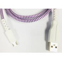 Quality Lightning / Type-C Plastic Head Braided Micro USB Charging Cable 1m 2m 3m for sale