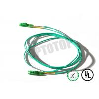 Quality LC LC Fiber Patch Cord 2F ZIP 2MM Corning SMF-28 ULTRA In Green Jacket for sale