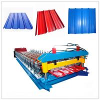 Quality Full Automatic Color Glazed Tile Roll Forming Machine 33ksi - 50 Ksi Yield Stress for sale