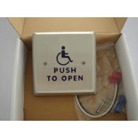 """Quality 4.5"""" Round Push To Exit Switch / Handicap Accessible Door Openers With Disabled Logo for sale"""