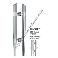Quality Stainless steel door handle HL6017, dia38 X 800 for sale