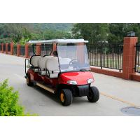 Buy Red Body Color Sightseeing Car 8 Passenger Electric Golf Buggy With Plastic at wholesale prices