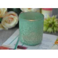 Quality Luxury Glass Candle Holders Beautiful Feather Painted Candle Holders For Decoration for sale