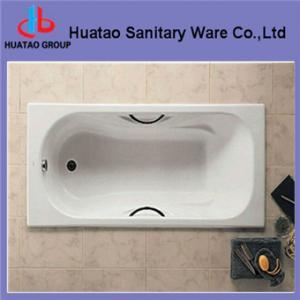 Enamel cast iron bathtub