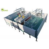 Galvanized Adjustable Floding Pig Farrowing Crate Plastic Hollow Panel Pig Stall