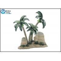 Quality Coconut Tree Aquarium Tank Decorations , Nontoxic Polyresin Beach Style Ornaments for sale