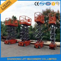 Quality 4m - 14m Lifting Height Electric Hydraulic Scissor Lift Tables 3.2 km/h Travel speed for sale