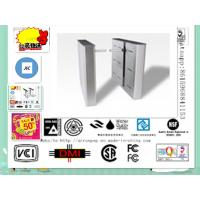 Quality Fingerprint Access Control Flap Turnstile Gate with Fire Alarm System for sale