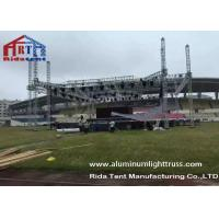 Buy cheap Outdoor Stage Showing Triangular Truss System , Lift Towers Aluminum Box Truss from wholesalers