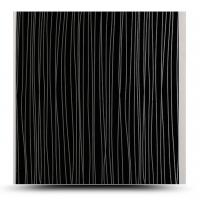 Quality OEM / ODM Design Decorative Pvc Wall Panels Black Rectangle Hollow Structure for sale
