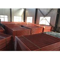 China Powder Coated Orange Color Temporary Construction Fencing 2.1m*2.4m OD 32mm wall thick 1.5mm on sale