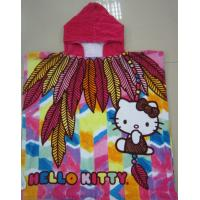 Quality Personality Hello Kitty Hooded Beach Towels For 3 - 7 Years Children for sale