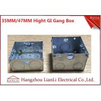 """Quality 3""""*6"""" Metal Electrical Gang Box BS4662 Hot Dip Galvanized Coil With Adjustable Ring for sale"""