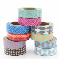 Quality Coloring Narrow Washi Paper Tape , Removable Decorative Tape Fit Artwork for sale