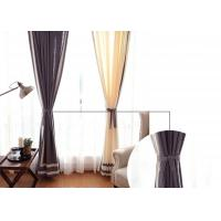 Quality patchwork white and navy curtains , Plain Style Home living room curtains for sale