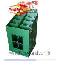 Quality Creative Corrugated board Floor Display Stand for Supermarket for sale