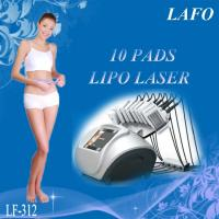 Buy 10 pads professional 650nm diode laser zerona lipo laser slimming machine at wholesale prices