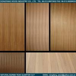 Quality Natural Burma Teak Plywood Quarter Cut for sale