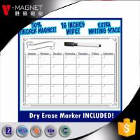 magnetic dry erase planner  flexible magnetic whiteboard for fridge China factory wholsale
