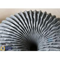 Quality PVC Coated Fiberglass Fabric Grey Flexible Air Ducts 200MM 260℃ Waterproof for sale