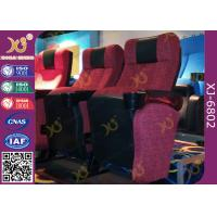 Buy ISO Certification Padding Armrest Folding Theater Seats With Flame Retardant Fabric at wholesale prices