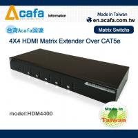 Quality Matrix 4 in 4 out HDMI 1080P Switch Extender over IP with RS232 and IR for sale