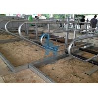 Quality Galvanized Steel Pipe Locking Feed Barriers For Breeding Farms for sale