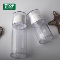 Quality 100ml White Airless Pump Bottles Recyclable Lotion Pump Sealing Type PP PETG Matrial for sale