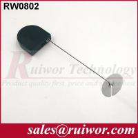 Quality Balck / White Bazaar Display Security Tether With Adhesive ABS Plate 	/ 2.8x2.8x0.8Cm Box for sale
