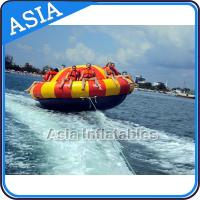 China Spinning Inflatable Disc Boat For 12 People / Inflatable Spin Boat Water toys on sale