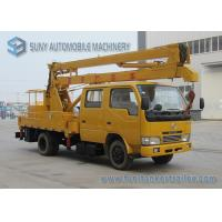 Quality Professional DFAC 18m High Operation Boom Truck Rentals Yellow And White for sale