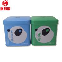 Quality 50g Food Grade Packaging Small Rectangular Metal Square Tea Tin Box for sale