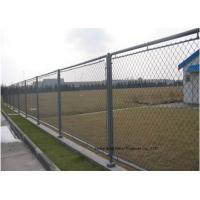 Buy Hot Dipped Galvanized Steel Wire Fencing , Residential Metal Chain Link Fence at wholesale prices