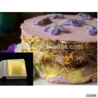 9.33*9.33 CM 24 K Pure Gold Color Edible Gold Leaf for Attractive  Bakery Decoration