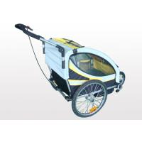 Buy 2-in-1 canopy includes bug screen and weather shield, four reflectors Double Bike Trailers at wholesale prices