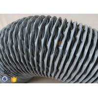 Quality PVC Coated Glass Fibre Flexible Air Ducting 200MM Diameter 5 Meters 260℃ for sale