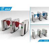 Quality Outdoor Turnstile Security Systems , Comercial Building Electronic Turnstile Gates for sale