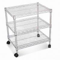 Quality Kitchen Cart with Powder Coating Finish and Ø25 x 1.2mm Tube for sale
