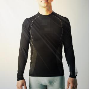 Quality Man  running sportswear,   fit seamless running T shirts,   sports shirt  XLLS002 for sale