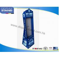 Quality Cardboard Floor Display Stand , Full color printing Display with Hooks for Gift Card Advertising for sale