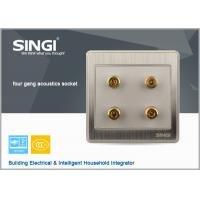 Quality Module with 3.5Mmm Stereo socket, 4 outlets  Stereo socket champagne color for sale